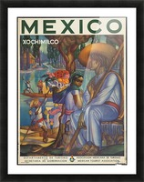 Mexico Xochimilco vintage poster Picture Frame print