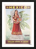 Mexico Tehuantepec vintage poster Picture Frame print