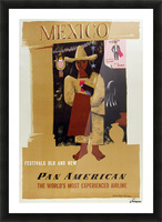 Mexico Pan American Poster Picture Frame print