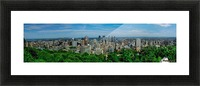 montreal panorama Picture Frame print