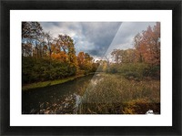 River side Picture Frame print