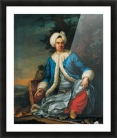 A European figure in Turkish costume Picture Frame print