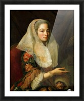 Portrait of a young Maltese woman Picture Frame print