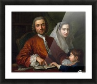 Dr Savatore Bernard with his wife and son Picture Frame print
