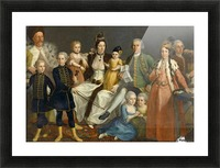 David George van Lennep and Family Picture Frame print