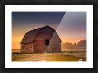 Rickety Barn Picture Frame print