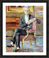 Victor Chocquet seated portrait by Cezanne Picture Frame print