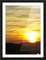 Vanishing Sun Picture Frame print