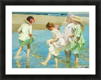 Children playing in the water Picture Frame print