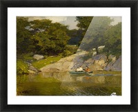 Boating in Central Park Picture Frame print