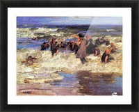 Surf Bathing Picture Frame print