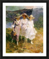 Walking in the Hills Picture Frame print