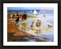 Children at Play on the Beach Picture Frame print