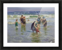 People enjoying the sea Picture Frame print