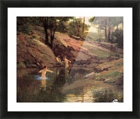 The Swimming Hole Picture Frame print