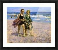Blonde and Brunette Picture Frame print