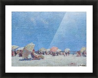 People on the beach Picture Frame print