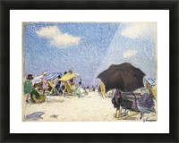 Scene by the beach Picture Frame print
