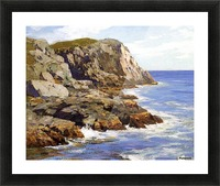 Cliffs and the sea landscape Picture Frame print