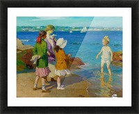 At The Beach and Cold Feet Picture Frame print