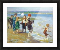 The bathing beach Picture Frame print