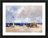 A Day at the Beach Picture Frame print