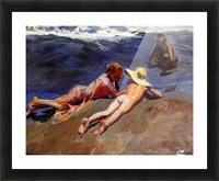 Bathers at Valencia Picture Frame print