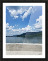 Looking Out Over Water Picture Frame print