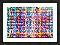 bokeh multicolor Picture Frame print