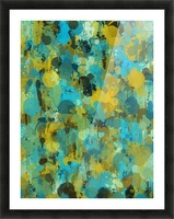 Paint Splattered Graffiti Green Blue Splash Picture Frame print