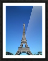 Eiffel tower Paris black and white with color Picture Frame print