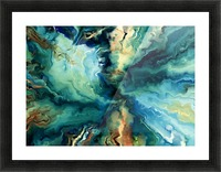Oil Painting Abstract Color Line Wave Design Picture Frame print