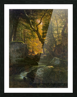 Rivers, Cottage Interiors and Ponds Picture Frame print