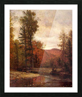 Adirondack Woodland with Two Deer 1880-1889 Picture Frame print