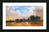 On the Plains Cache la Poudre River Picture Frame print
