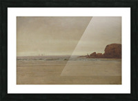 Beach and Rocks Picture Frame print