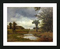 Going to the Village Picture Frame print