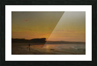 Second Beach Newport Picture Frame print