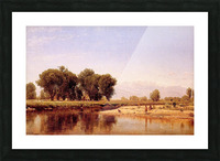 Indian Emcampment on the Platte River Picture Frame print