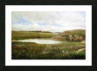 Freshwater Pond in Summer Rhode Island Picture Frame print