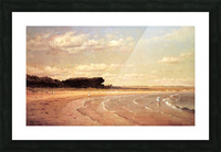 Second Beach Newport in sunset Picture Frame print