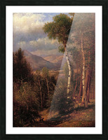 Hunter in the Woods of Ashokan Picture Frame print