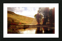 Landscape with a lake Picture Frame print