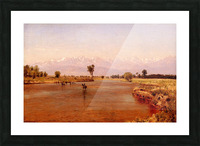 Crossing the Platte 1870 Picture Frame print