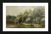 Sheep Washing on Long Island Picture Frame print
