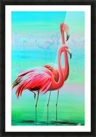 Фламинго на рассвете  Picture Frame print