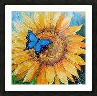Подсолнух и бабочка Picture Frame print