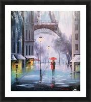 Первый снег в Париже   Picture Frame print