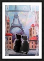 Друзя в Париже Picture Frame print