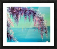 Глициния у моря Picture Frame print